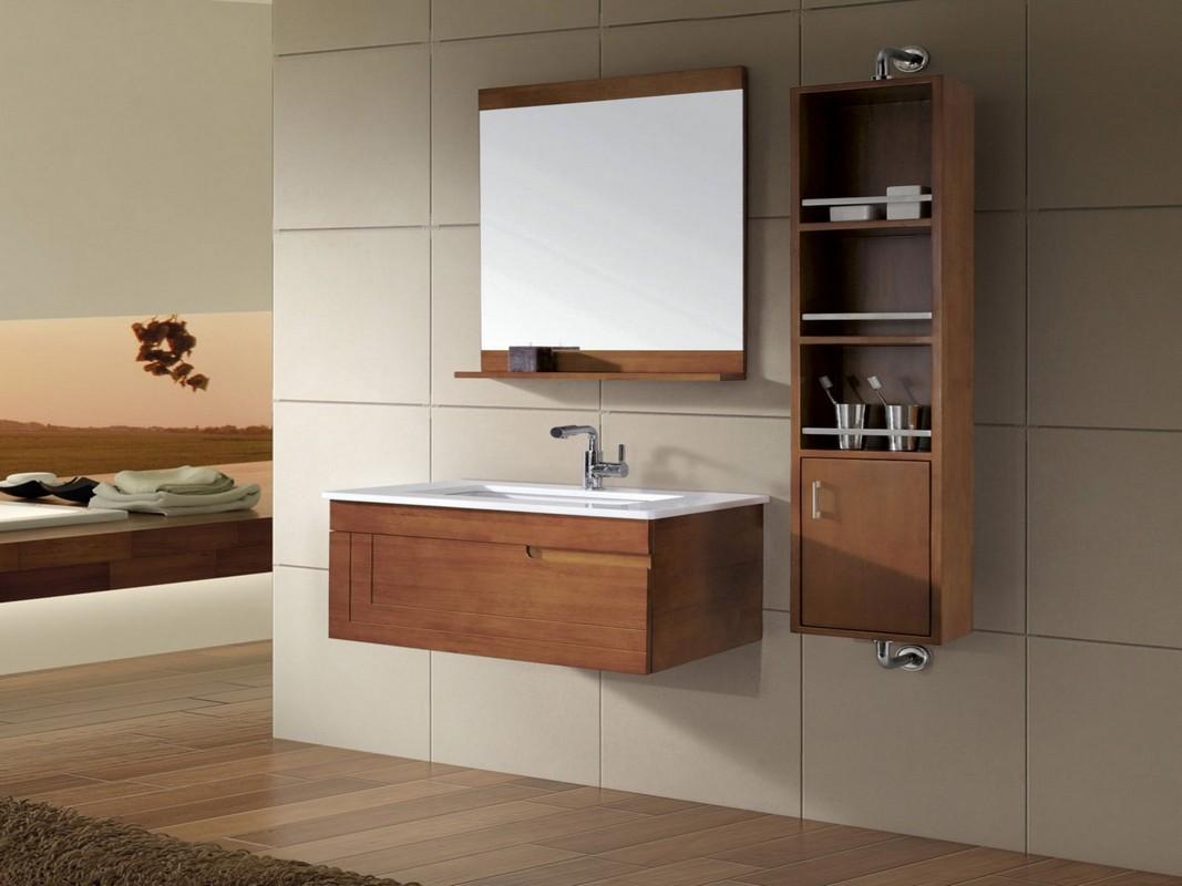 17 Brown Bathroom Design Using Solid Oak Wood Bathroom Vanity Wall Hung Bathroom Furniture Including Solid Oak Wood Laminate Maxk Shop
